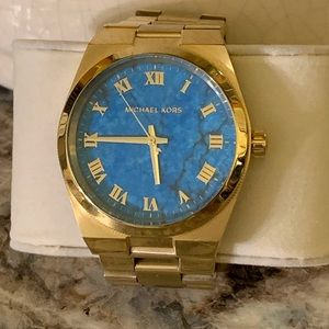 Michael Kors Channing Gold/Turquoise watch